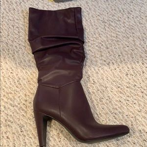 Slouchy heel boots by Christian Siriano